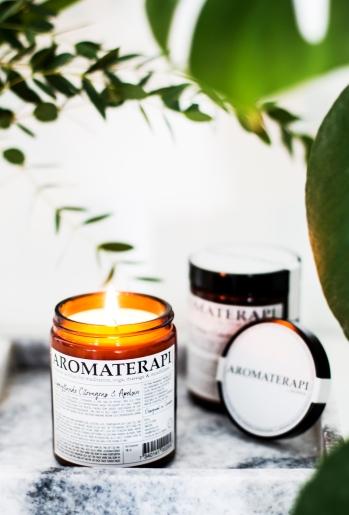 Aromaterapi på marmorbricka
